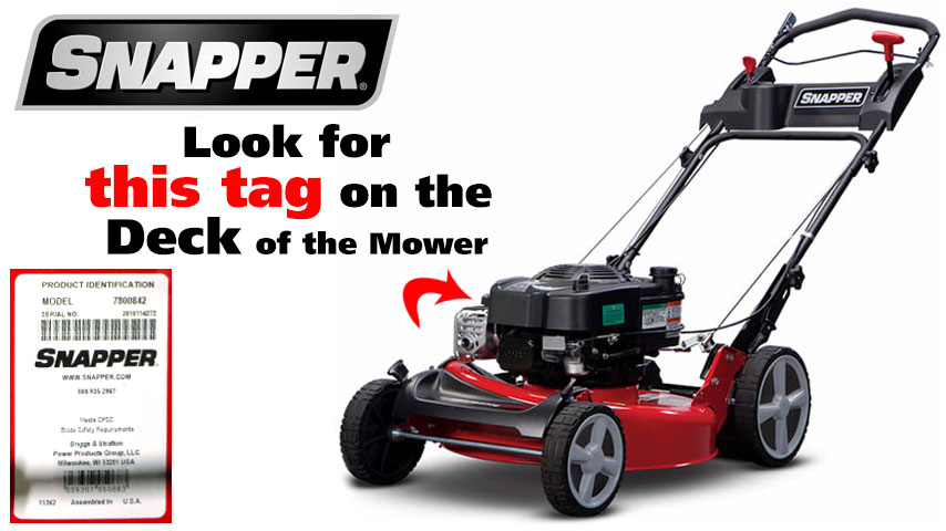 Find Your Snapper Walk Behind Mower Model Number