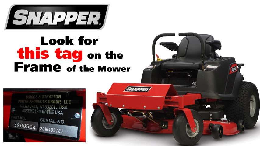 Find Your Snapper Lawn Tractor Mower Model Number